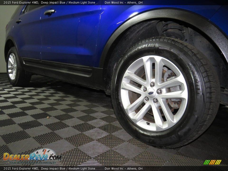 2015 Ford Explorer 4WD Deep Impact Blue / Medium Light Stone Photo #3