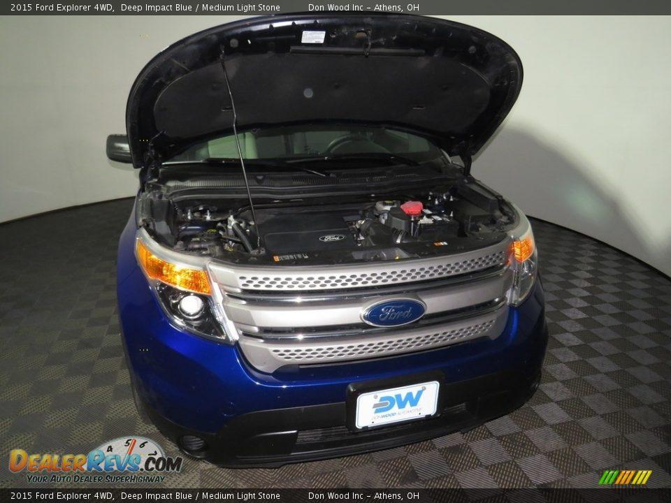 2015 Ford Explorer 4WD Deep Impact Blue / Medium Light Stone Photo #5