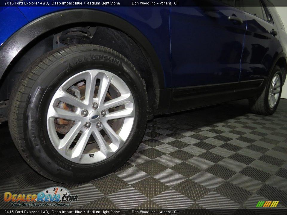 2015 Ford Explorer 4WD Deep Impact Blue / Medium Light Stone Photo #8