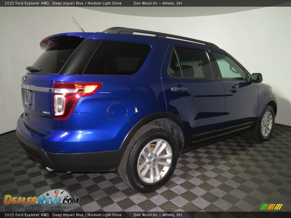 2015 Ford Explorer 4WD Deep Impact Blue / Medium Light Stone Photo #14