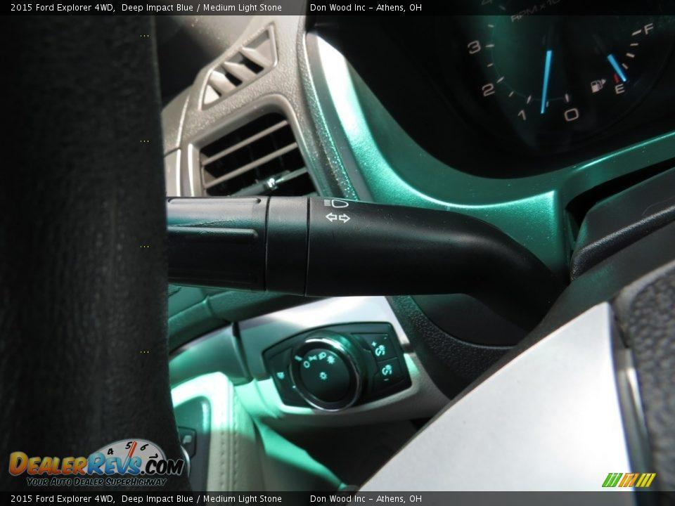 2015 Ford Explorer 4WD Deep Impact Blue / Medium Light Stone Photo #30