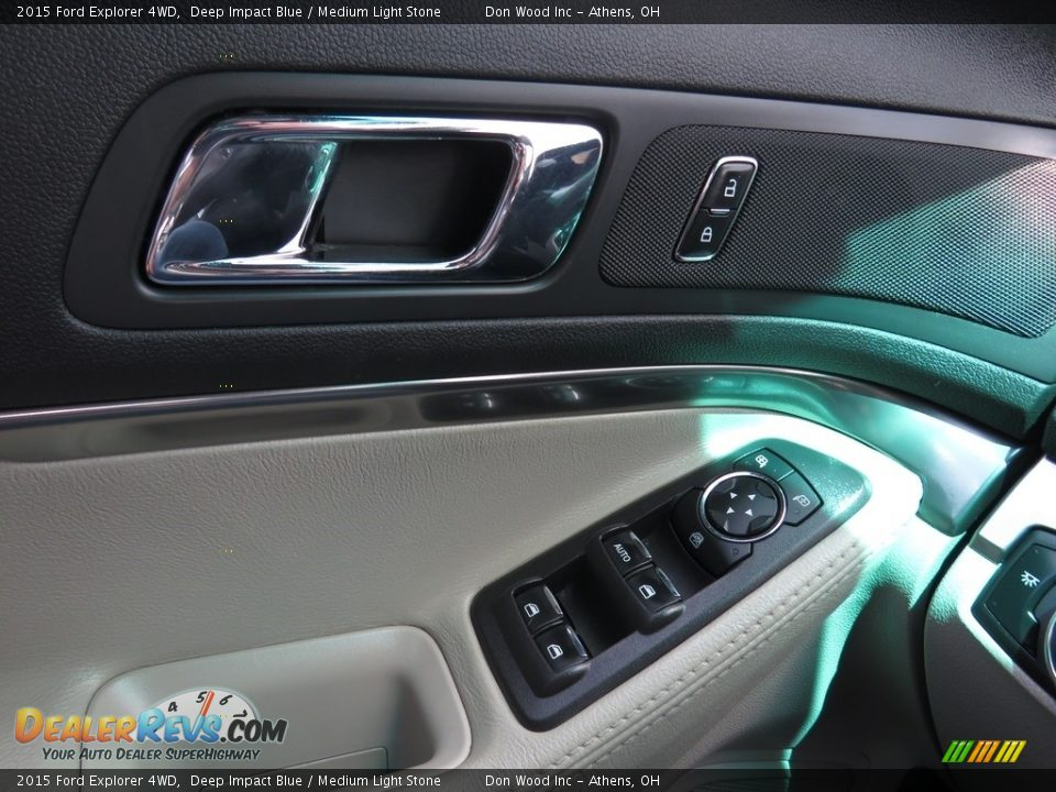 2015 Ford Explorer 4WD Deep Impact Blue / Medium Light Stone Photo #35
