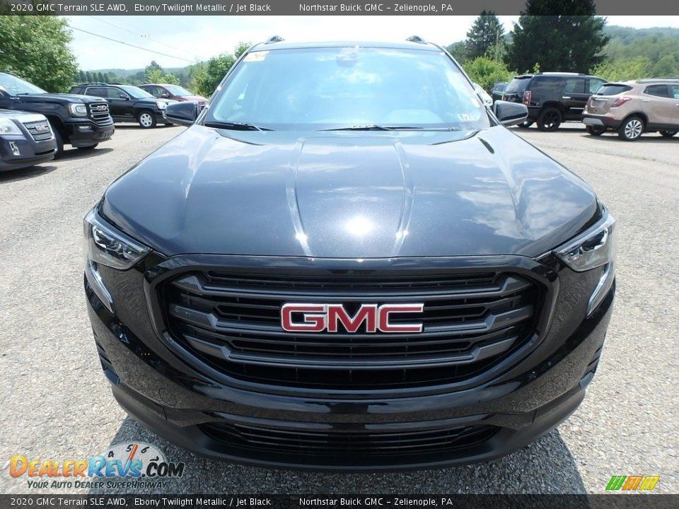 2020 GMC Terrain SLE AWD Ebony Twilight Metallic / Jet Black Photo #2