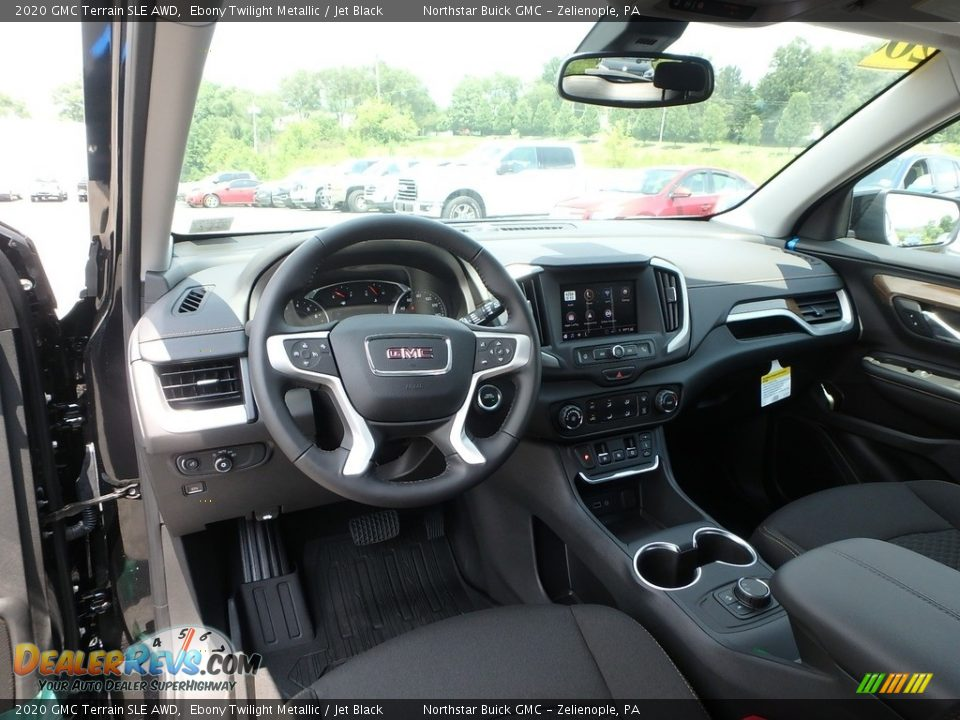 2020 GMC Terrain SLE AWD Ebony Twilight Metallic / Jet Black Photo #14