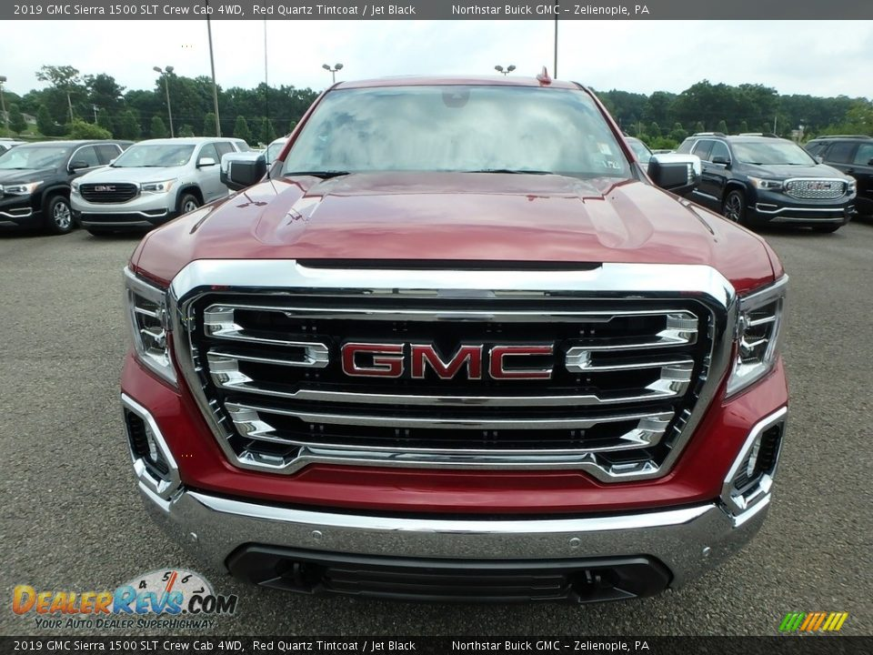 2019 GMC Sierra 1500 SLT Crew Cab 4WD Red Quartz Tintcoat / Jet Black Photo #2