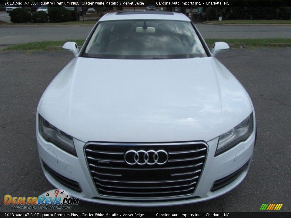 2013 Audi A7 3.0T quattro Premium Plus Glacier White Metallic / Velvet Beige Photo #5