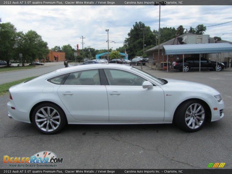 2013 Audi A7 3.0T quattro Premium Plus Glacier White Metallic / Velvet Beige Photo #11