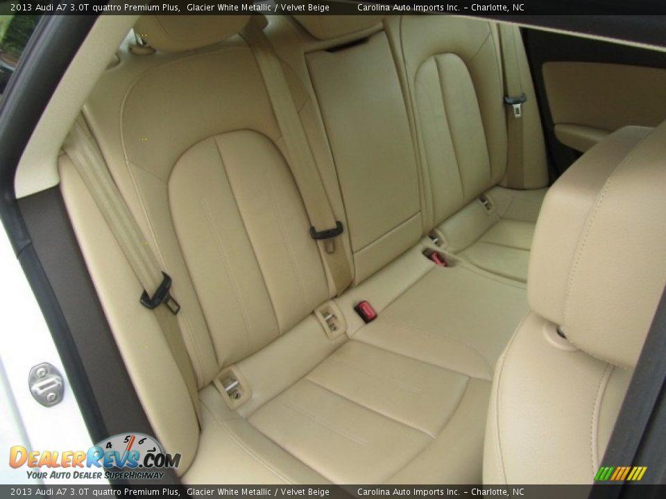 2013 Audi A7 3.0T quattro Premium Plus Glacier White Metallic / Velvet Beige Photo #24