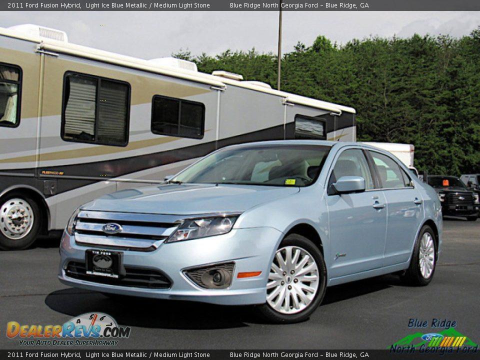 2011 Ford Fusion Hybrid Light Ice Blue Metallic / Medium Light Stone Photo #1