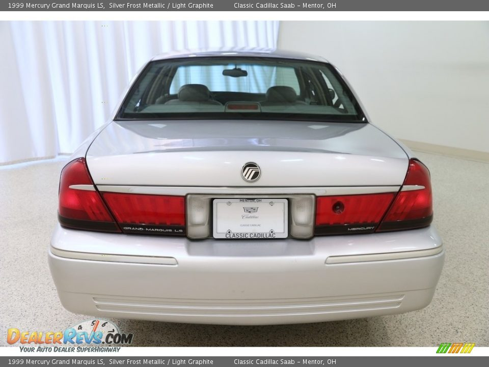 1999 Mercury Grand Marquis LS Silver Frost Metallic / Light Graphite Photo #23