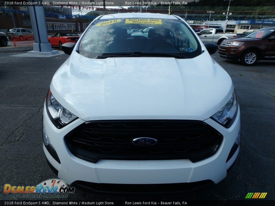 2018 Ford EcoSport S 4WD Diamond White / Medium Light Stone Photo #8