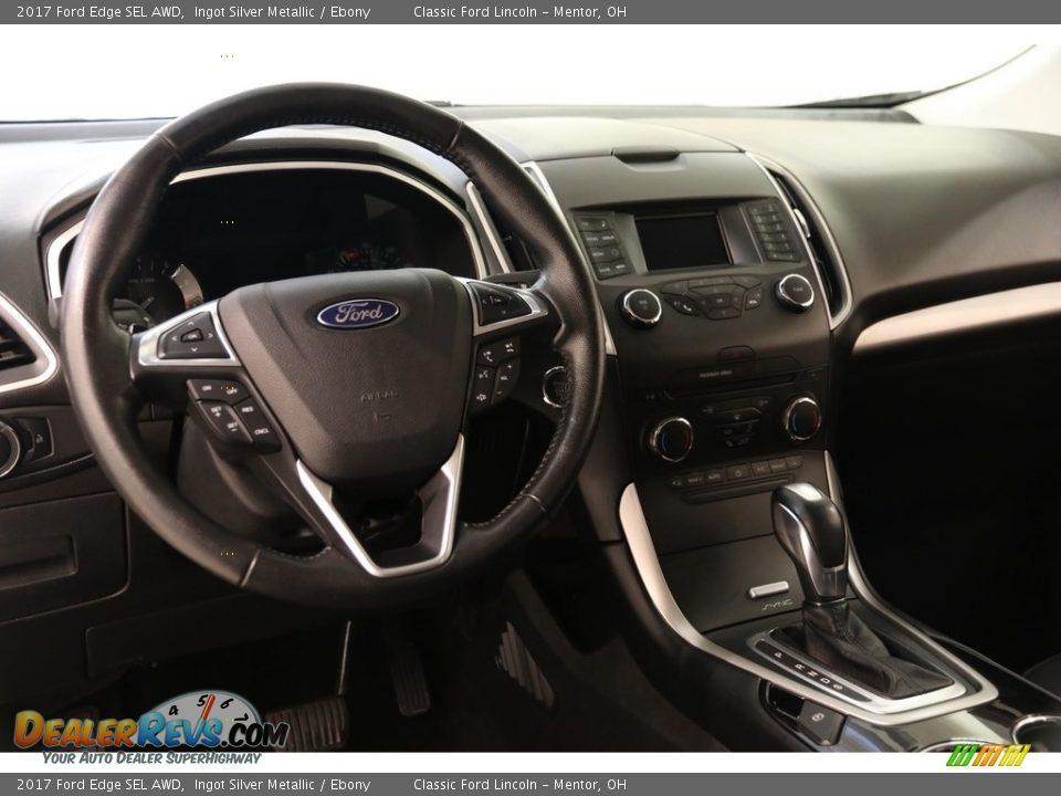 2017 Ford Edge SEL AWD Ingot Silver Metallic / Ebony Photo #7