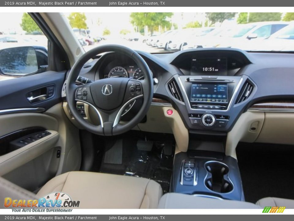 2019 Acura MDX Majestic Black Pearl / Parchment Photo #31
