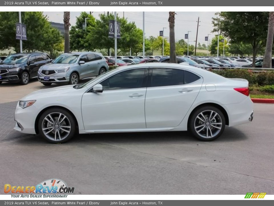 2019 Acura TLX V6 Sedan Platinum White Pearl / Ebony Photo #4