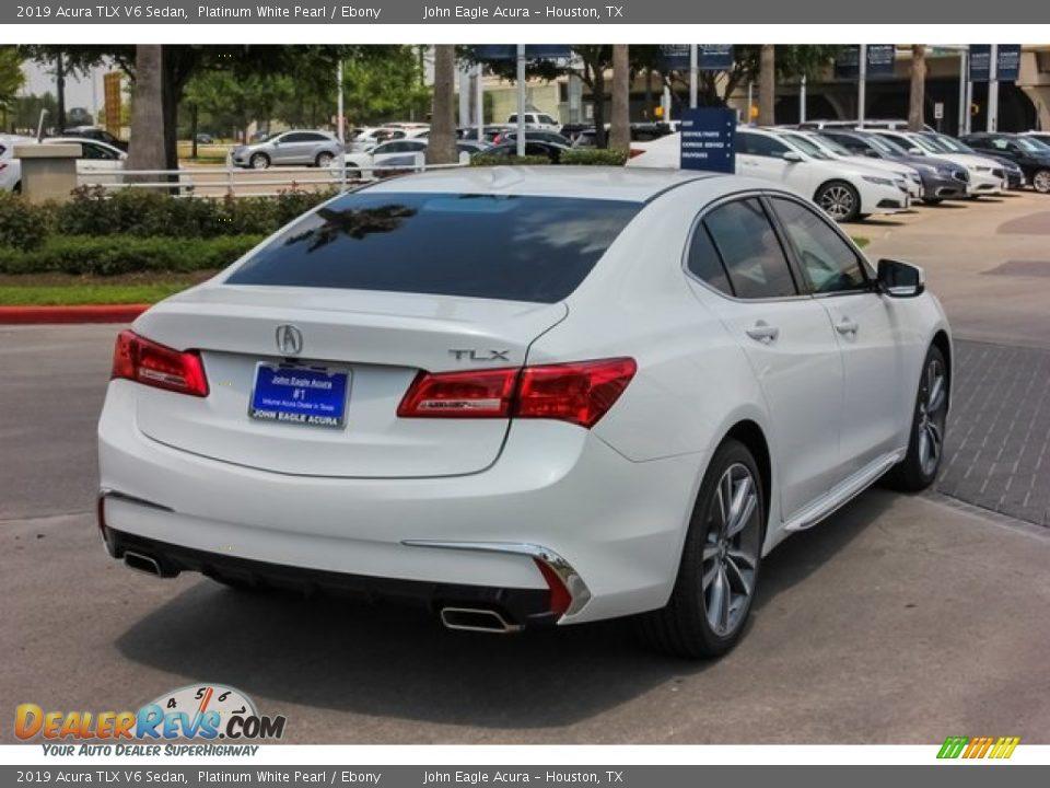 2019 Acura TLX V6 Sedan Platinum White Pearl / Ebony Photo #7