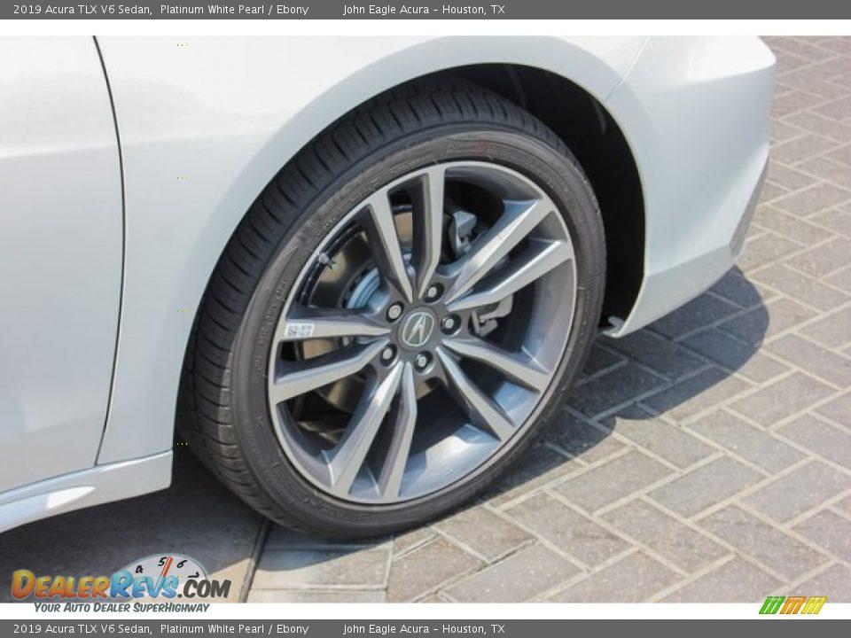 2019 Acura TLX V6 Sedan Platinum White Pearl / Ebony Photo #11