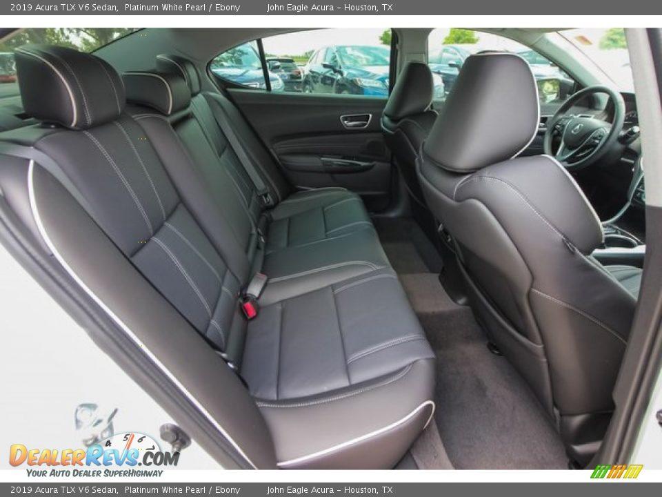 2019 Acura TLX V6 Sedan Platinum White Pearl / Ebony Photo #21