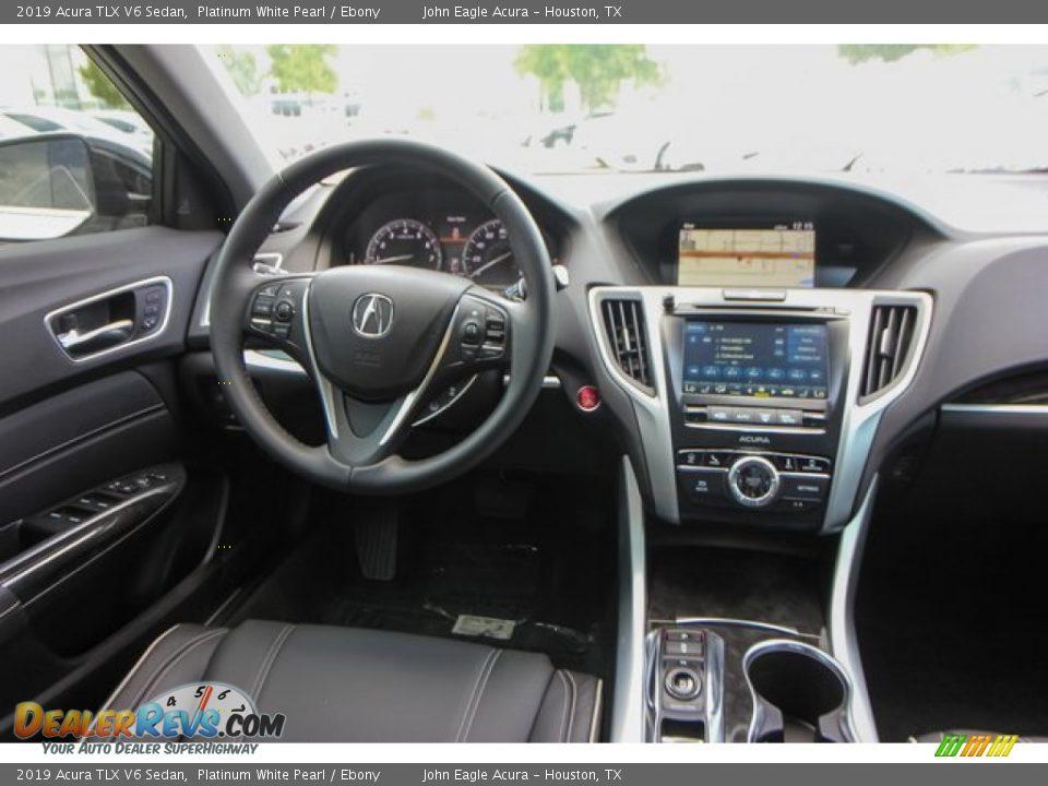 2019 Acura TLX V6 Sedan Platinum White Pearl / Ebony Photo #25