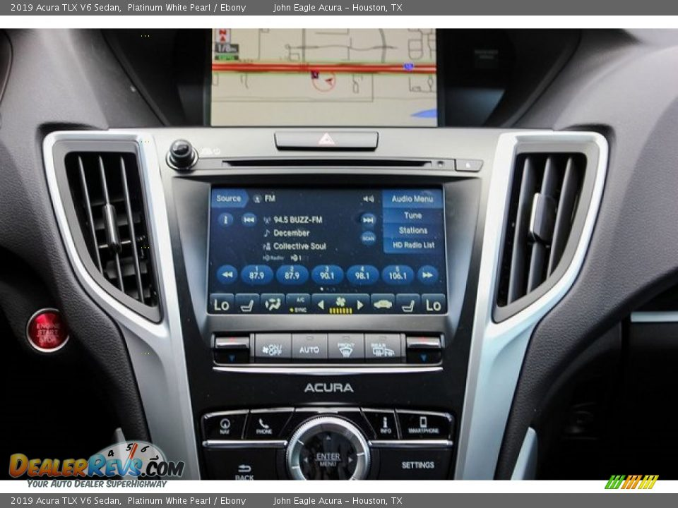 2019 Acura TLX V6 Sedan Platinum White Pearl / Ebony Photo #28