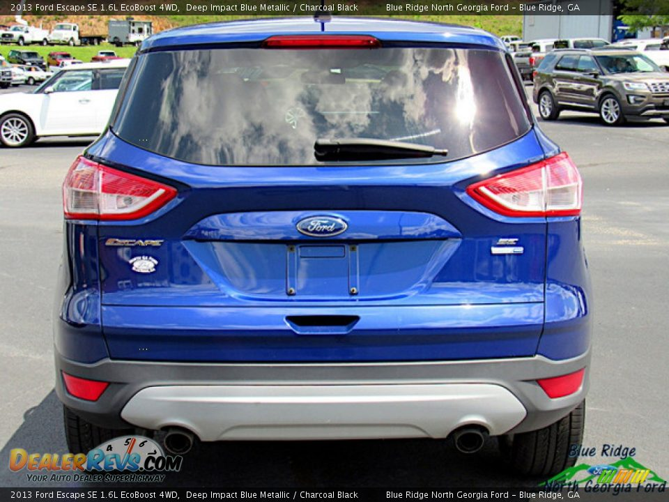 2013 Ford Escape SE 1.6L EcoBoost 4WD Deep Impact Blue Metallic / Charcoal Black Photo #4