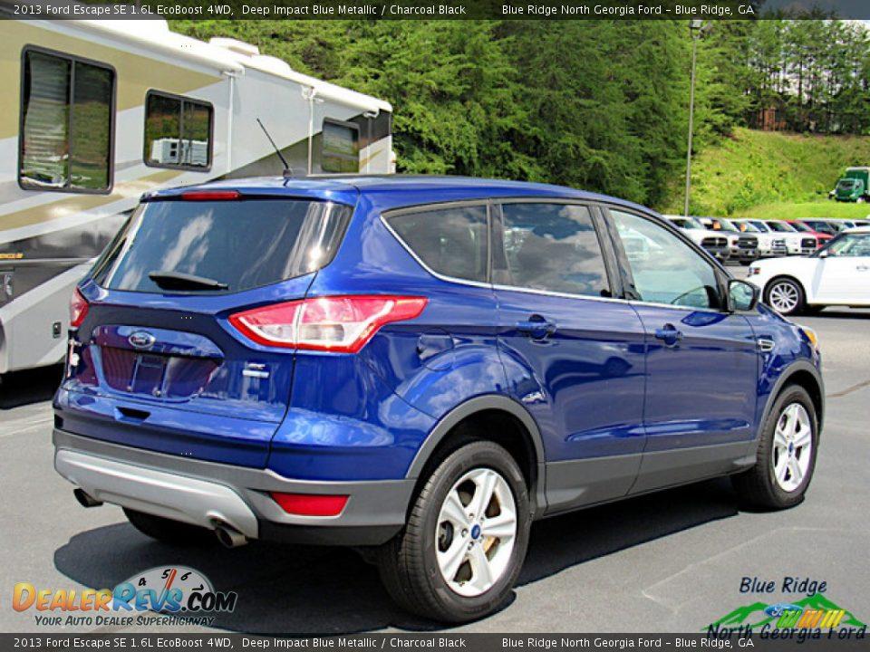 2013 Ford Escape SE 1.6L EcoBoost 4WD Deep Impact Blue Metallic / Charcoal Black Photo #5