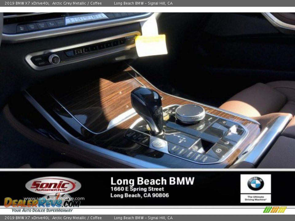2019 BMW X7 xDrive40i Arctic Grey Metallic / Coffee Photo #6