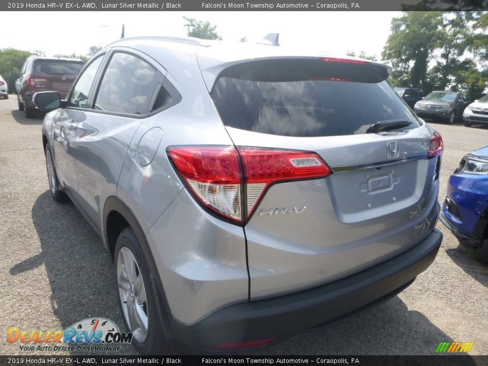 2019 Honda HR-V EX-L AWD Lunar Silver Metallic / Black Photo #2