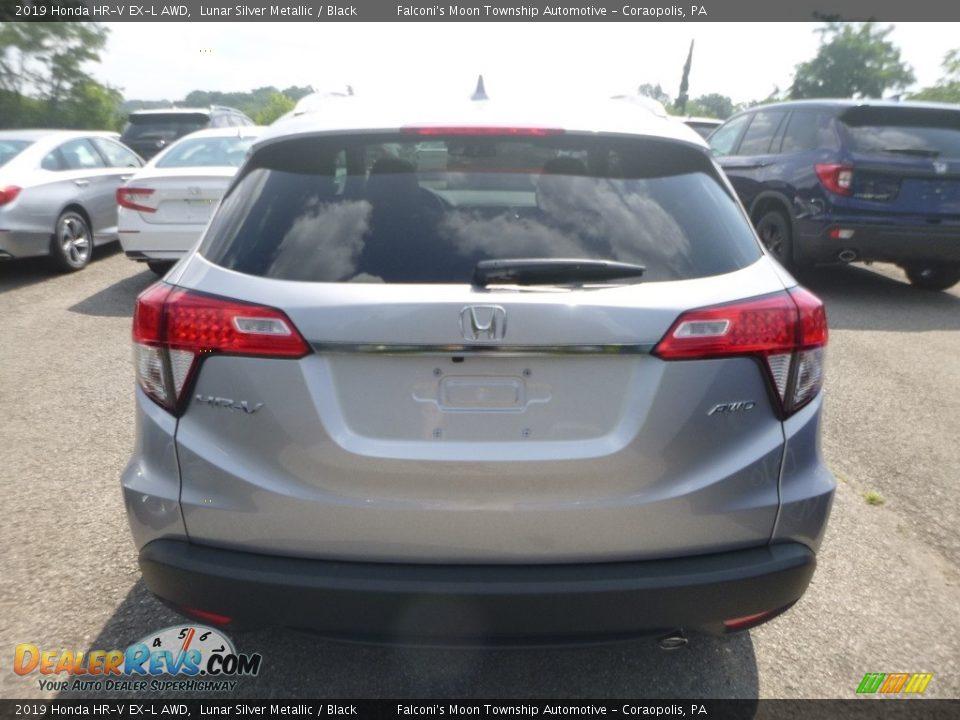2019 Honda HR-V EX-L AWD Lunar Silver Metallic / Black Photo #3