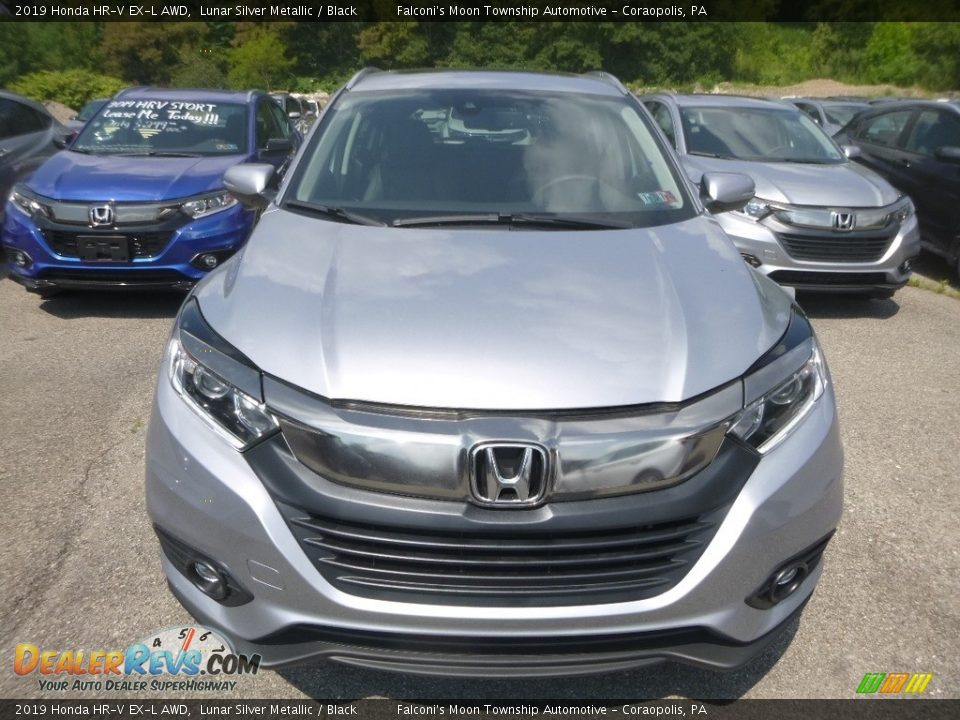 2019 Honda HR-V EX-L AWD Lunar Silver Metallic / Black Photo #6