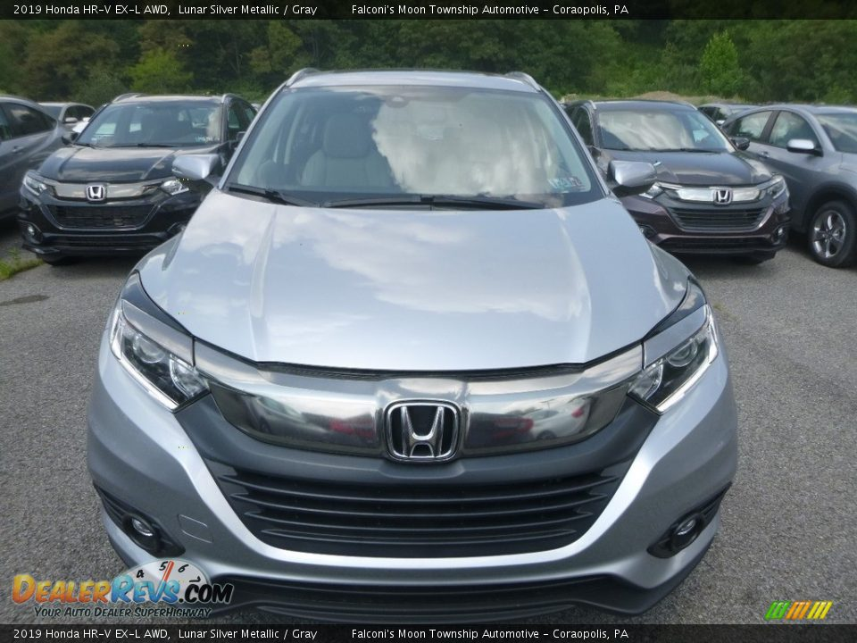 2019 Honda HR-V EX-L AWD Lunar Silver Metallic / Gray Photo #6