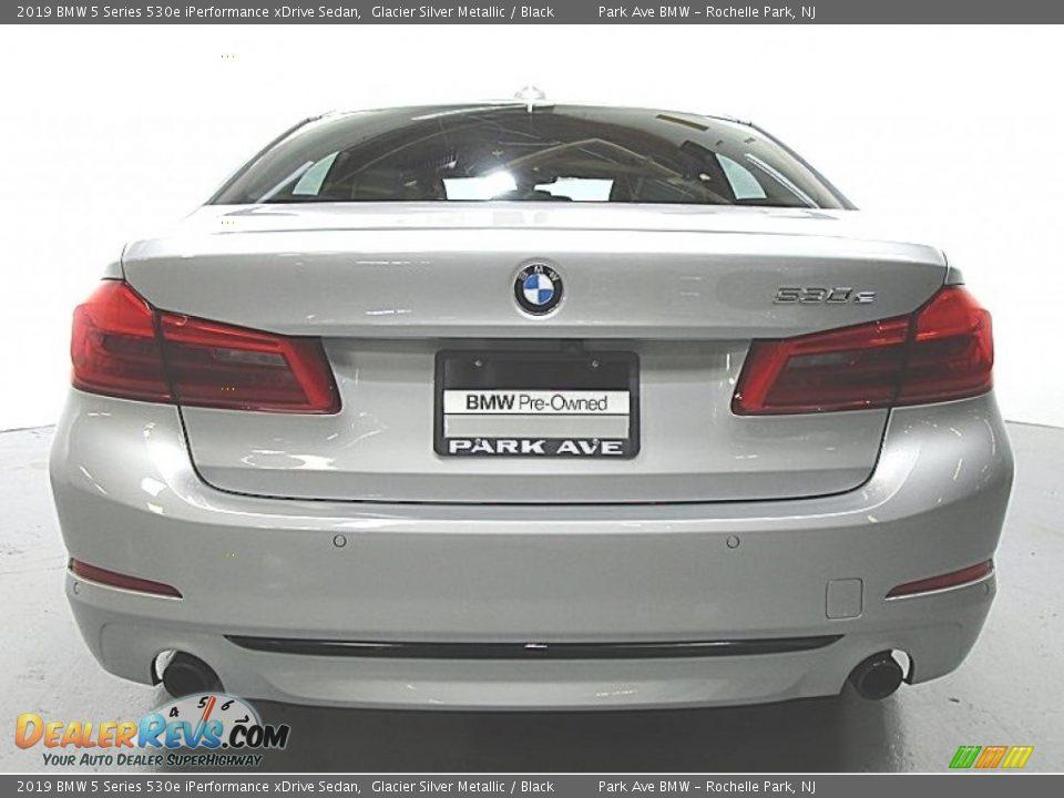 2019 BMW 5 Series 530e iPerformance xDrive Sedan Glacier Silver Metallic / Black Photo #3