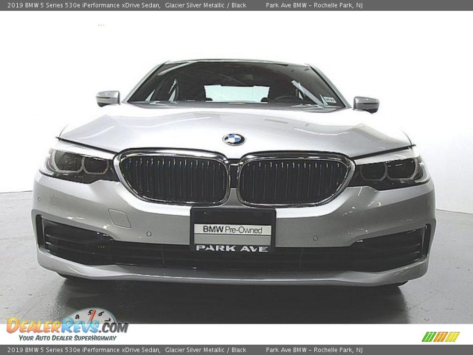 2019 BMW 5 Series 530e iPerformance xDrive Sedan Glacier Silver Metallic / Black Photo #6