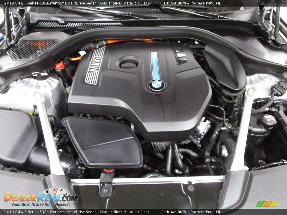 2019 BMW 5 Series 530e iPerformance xDrive Sedan Glacier Silver Metallic / Black Photo #29