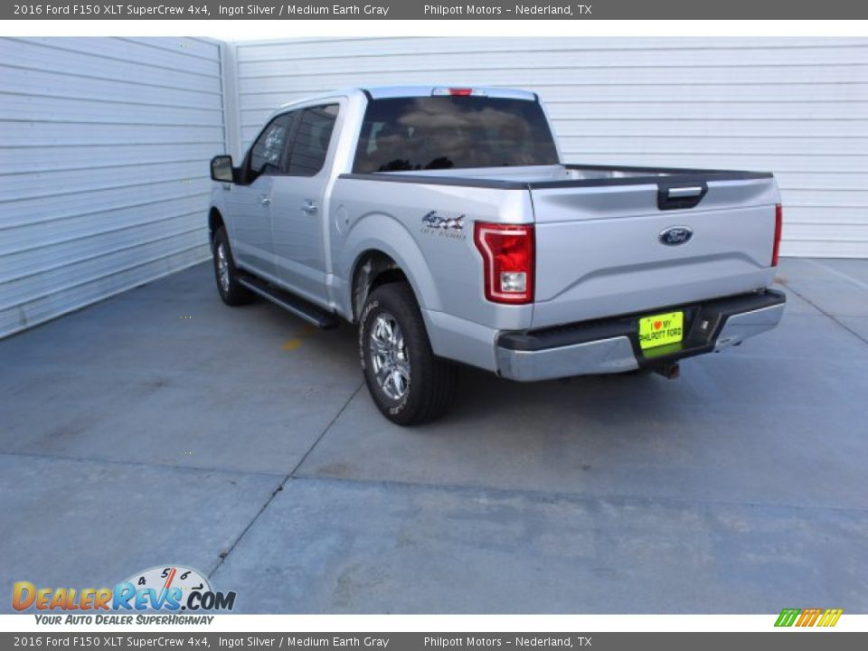 2016 Ford F150 XLT SuperCrew 4x4 Ingot Silver / Medium Earth Gray Photo #6