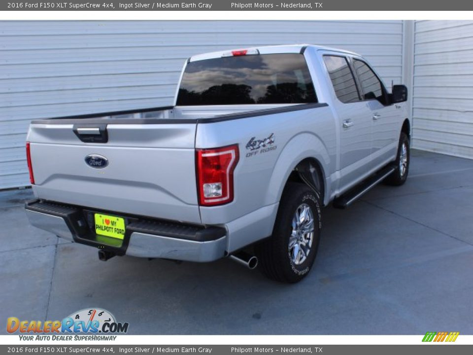 2016 Ford F150 XLT SuperCrew 4x4 Ingot Silver / Medium Earth Gray Photo #8