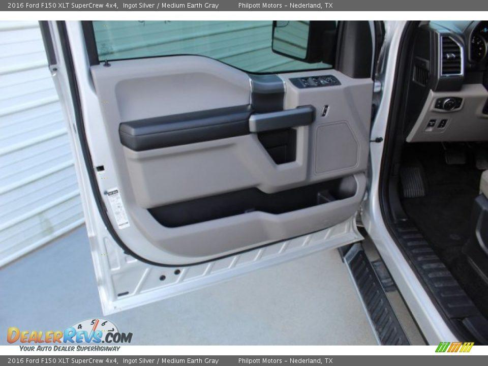 2016 Ford F150 XLT SuperCrew 4x4 Ingot Silver / Medium Earth Gray Photo #9