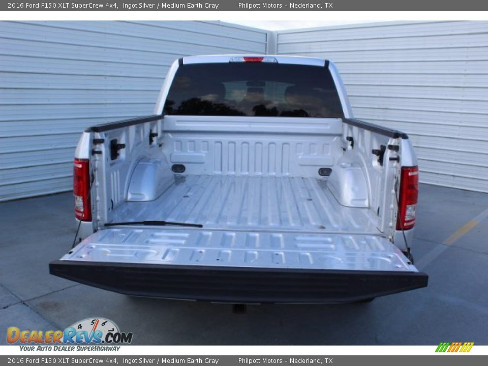 2016 Ford F150 XLT SuperCrew 4x4 Ingot Silver / Medium Earth Gray Photo #23