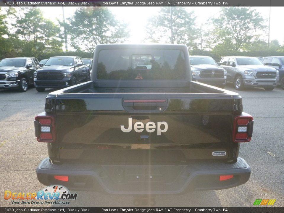 2020 Jeep Gladiator Overland 4x4 Black / Black Photo #4