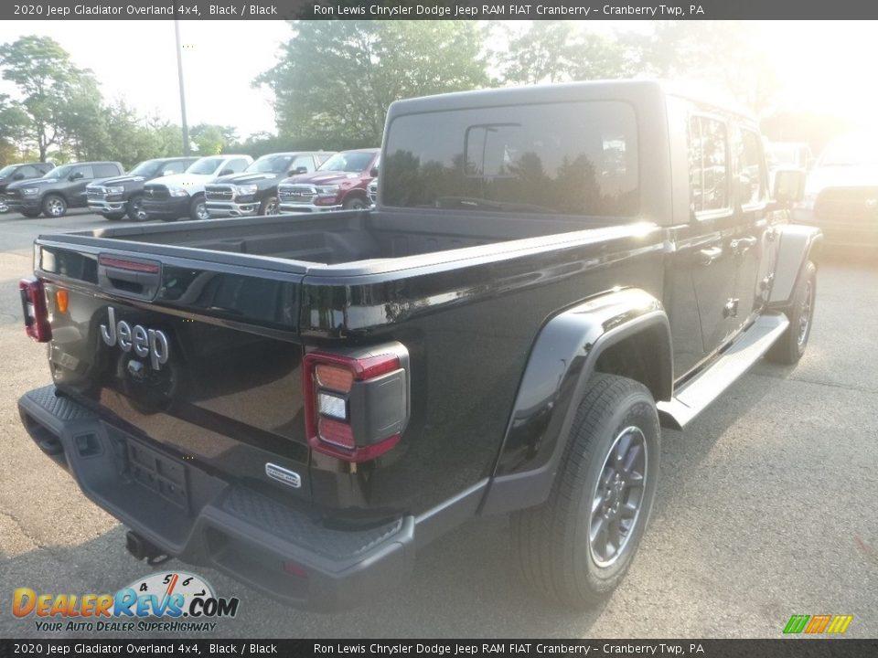 2020 Jeep Gladiator Overland 4x4 Black / Black Photo #5