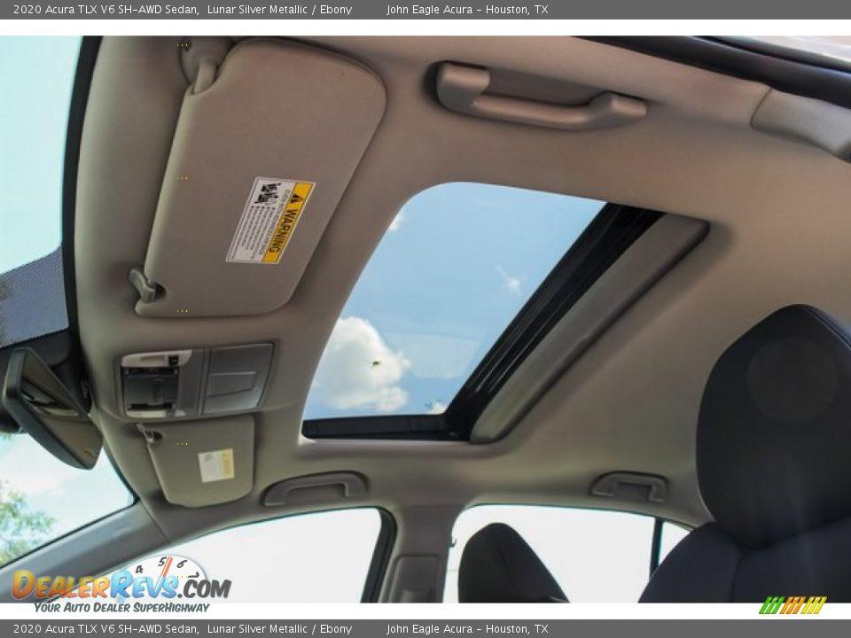 2020 Acura TLX V6 SH-AWD Sedan Lunar Silver Metallic / Ebony Photo #14