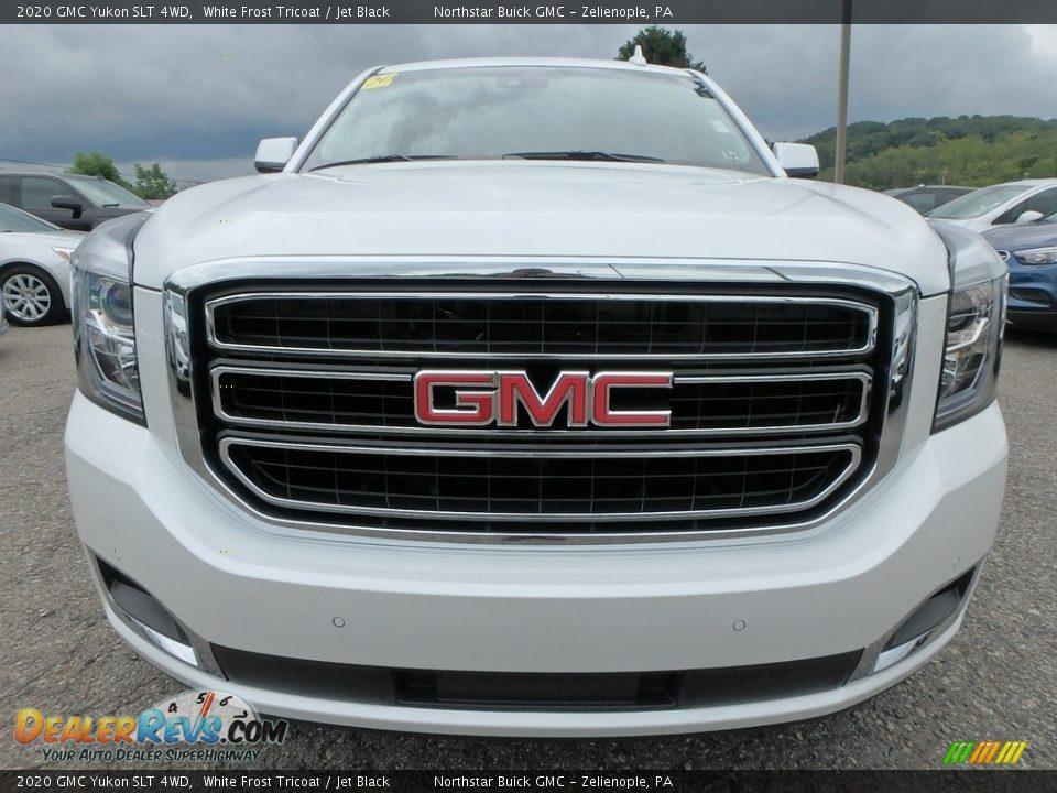2020 GMC Yukon SLT 4WD White Frost Tricoat / Jet Black Photo #2