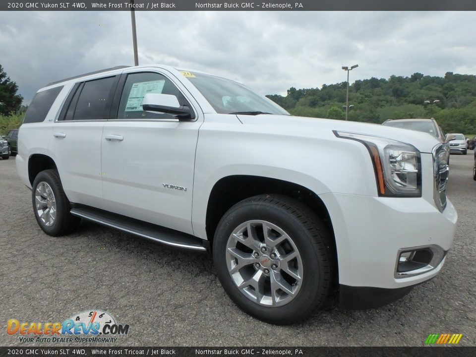White Frost Tricoat 2020 GMC Yukon SLT 4WD Photo #3