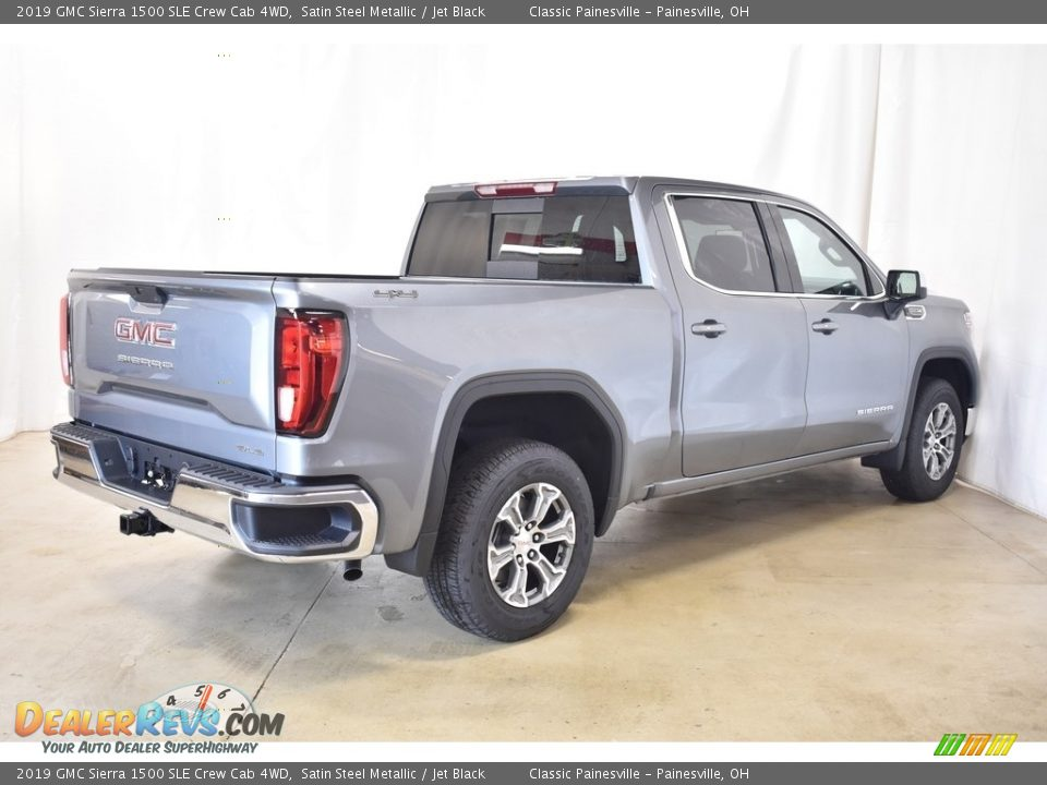 2019 GMC Sierra 1500 SLE Crew Cab 4WD Satin Steel Metallic / Jet Black Photo #2