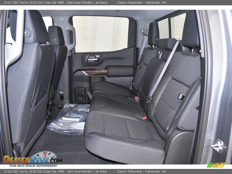 2019 GMC Sierra 1500 SLE Crew Cab 4WD Satin Steel Metallic / Jet Black Photo #7