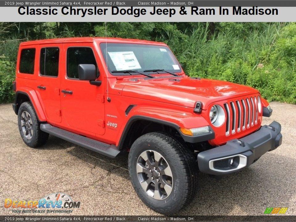 2019 Jeep Wrangler Unlimited Sahara 4x4 Firecracker Red / Black Photo #1