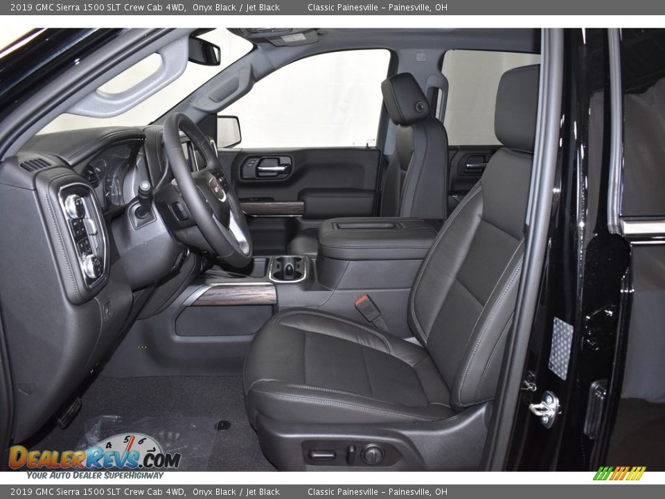 2019 GMC Sierra 1500 SLT Crew Cab 4WD Onyx Black / Jet Black Photo #7