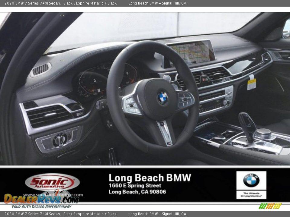 2020 BMW 7 Series 740i Sedan Black Sapphire Metallic / Black Photo #4
