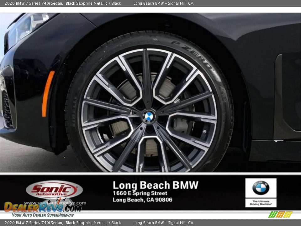 2020 BMW 7 Series 740i Sedan Black Sapphire Metallic / Black Photo #9