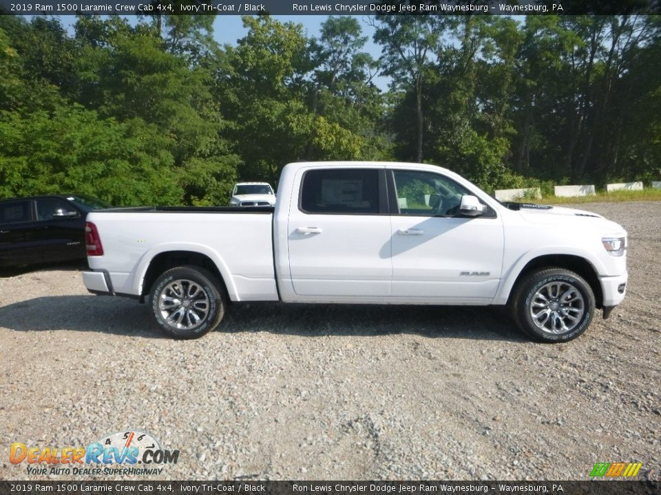 Ivory Tri–Coat 2019 Ram 1500 Laramie Crew Cab 4x4 Photo #6