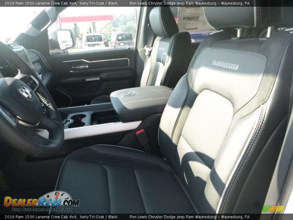 2019 Ram 1500 Laramie Crew Cab 4x4 Ivory Tri–Coat / Black Photo #13